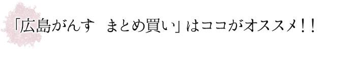 「広島がんす まとめ買い」はココがオススメ!