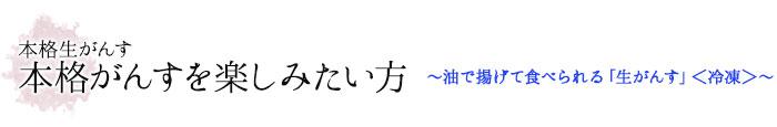 本格がんすを楽しみたい方 〜広島「生」がんす〈冷凍〉〜
