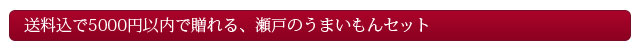 送料込で5000円以内で贈れる、瀬戸のうまいもんセット
